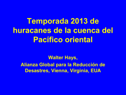 2013 EASTERN PACIFIC BASIN HURRICANE SEASON in Spanish
