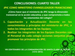 Conclusiones del Taller Padre Guido.