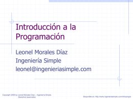 clase01 - Ingeniería Simple