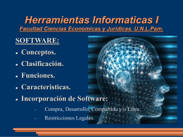 Software - Facultad de Ciencias Económicas y Jurídicas