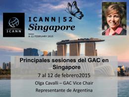 Principales sesiones del GAC en Singapore - website