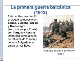 Primera crisis balcánica - E