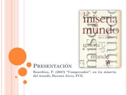 Comprender – Bourdieu - Métodos avanzados de investigación