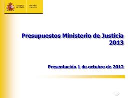 Presentación del Proyecto de Justicia
