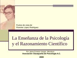 La Enseñanza de la Psicología y el Razonamiento