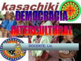Interculturalidad y democracia - elizabeth-choque
