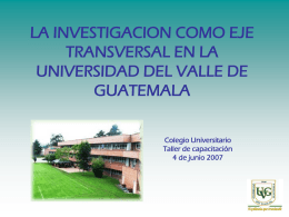 PPT - Universidad del Valle de Guatemala