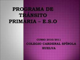 PROGRAMA de TRÁNSITO INFANTIL-PRIMARIA