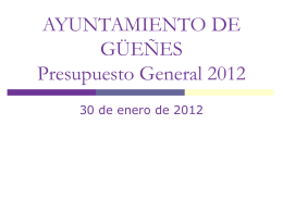 Presupuesto 2012
