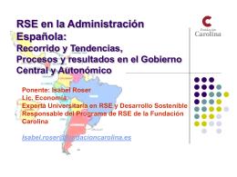 RSE en la Administracion Española