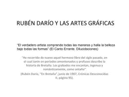 Ruben Dario y las Artes Graficas
