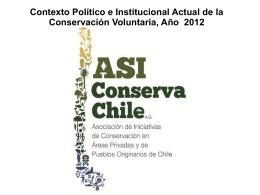 Contexto Político e Institucional Actual de la Conservación