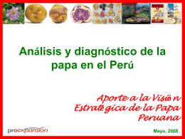 Presentación de la Papa Huancayo