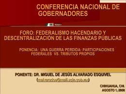 Ponencia 1 - Foro Nacional sobre Federalismo y Descentralización