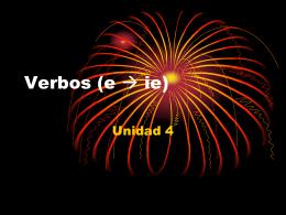 Verbos (e ie)