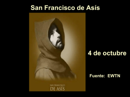 San Francisco de Asís| - Alianza en Jesús por María
