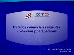 Costa Rica: comercio con los países con los cuales se tiene vigente