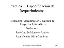 Practica 1. Especificación de Requerimientos
