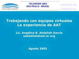 Objetivos de los nodos de trabajo de AAT