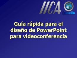 Guía rápida para el diseño de PowerPoint para videoconferencia
