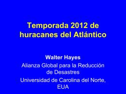 2012 ATLANTIC HURRICANE SEASON in Spanish