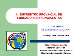 La Pastoral de la Escuela Católica