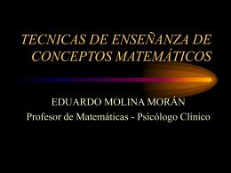 TECNICAS DE ENSEÑANZA DE CONCEPTOS MATEMÁTICOS