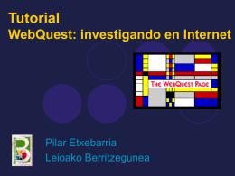 Tutoriala: WebQuest