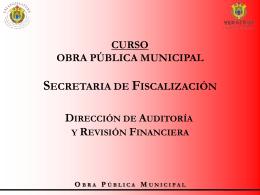 CURSO DE OBRA PÚBLICA - H. Congreso del Estado de Veracruz