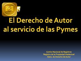 El Derecho del Autor al servicio de las PYMES