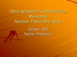 Obra de teatro: La Revolución Mexicana. Alumna