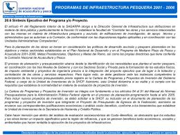 20.6 Síntesis Ejecutiva del Programa - CONAPESCA