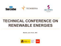 TECHNICAL CONFERENCE ON RENEWABLE