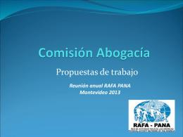 Presentación Comisión Abogacia