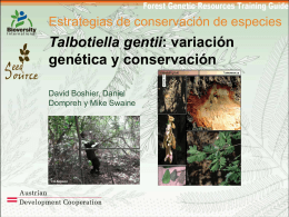 Slide 1 - Forest Genetic Resources Training Guide