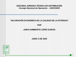 Valoración Calidad de la Potencia_2005, EPM, Jairo