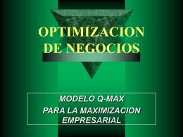 Optimización de negocios