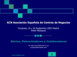ACN España Asociación de Centros de Negocios