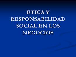etica y responsabilidad social en los negocios