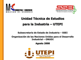 Unidad Técnica de Estudios para la Industria – UTEPI