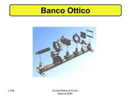 Banco Ottico - Dipartimento di Fisica