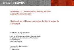 Basilea II en el ámbito europeo y español