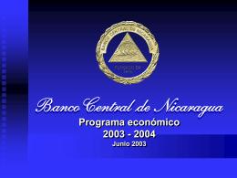 Programa Económico 2003-2004 (Banco Central de