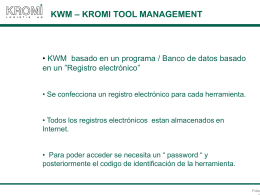 KWM – broca escalonada - 1412050