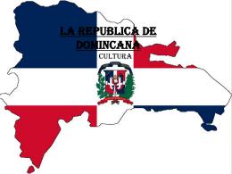 Cultura de la rebublica de dominicana
