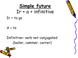 Simple future Ir + a + infinitive