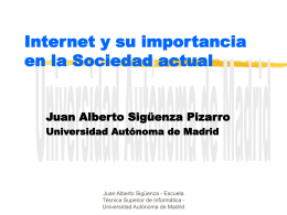 Internet - Universidad Autónoma de Madrid