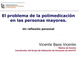 El problema de la polimedicación en las personas mayores