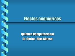 Efectos anoméricos