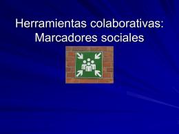 Herramientas colaborativas: Marcadores sociales